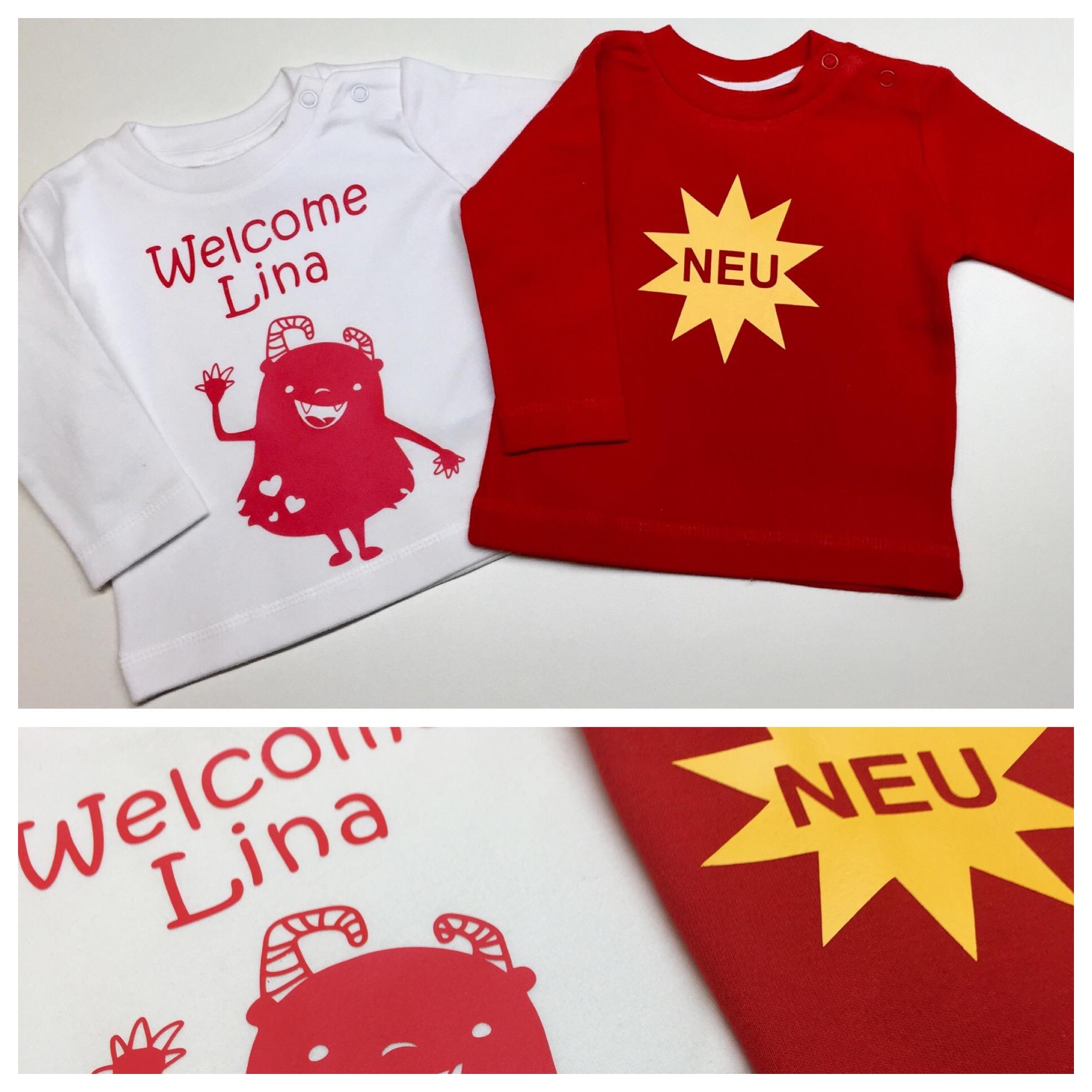 Geburtsgeschenk, Wilkommen, Welcome, Neu, plotten, geplottet, personalisiert, Shirt, Shirtdesign, Plotterliebe